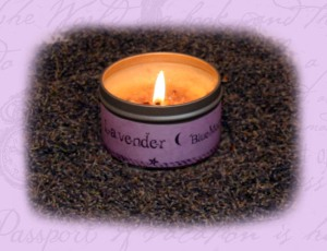 lavander candle tin