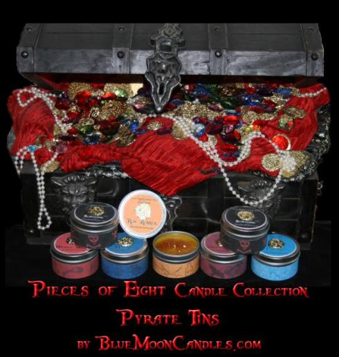 Pirate Candles by Blue Moon Candles