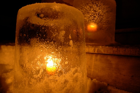 how to make clear ice candles
