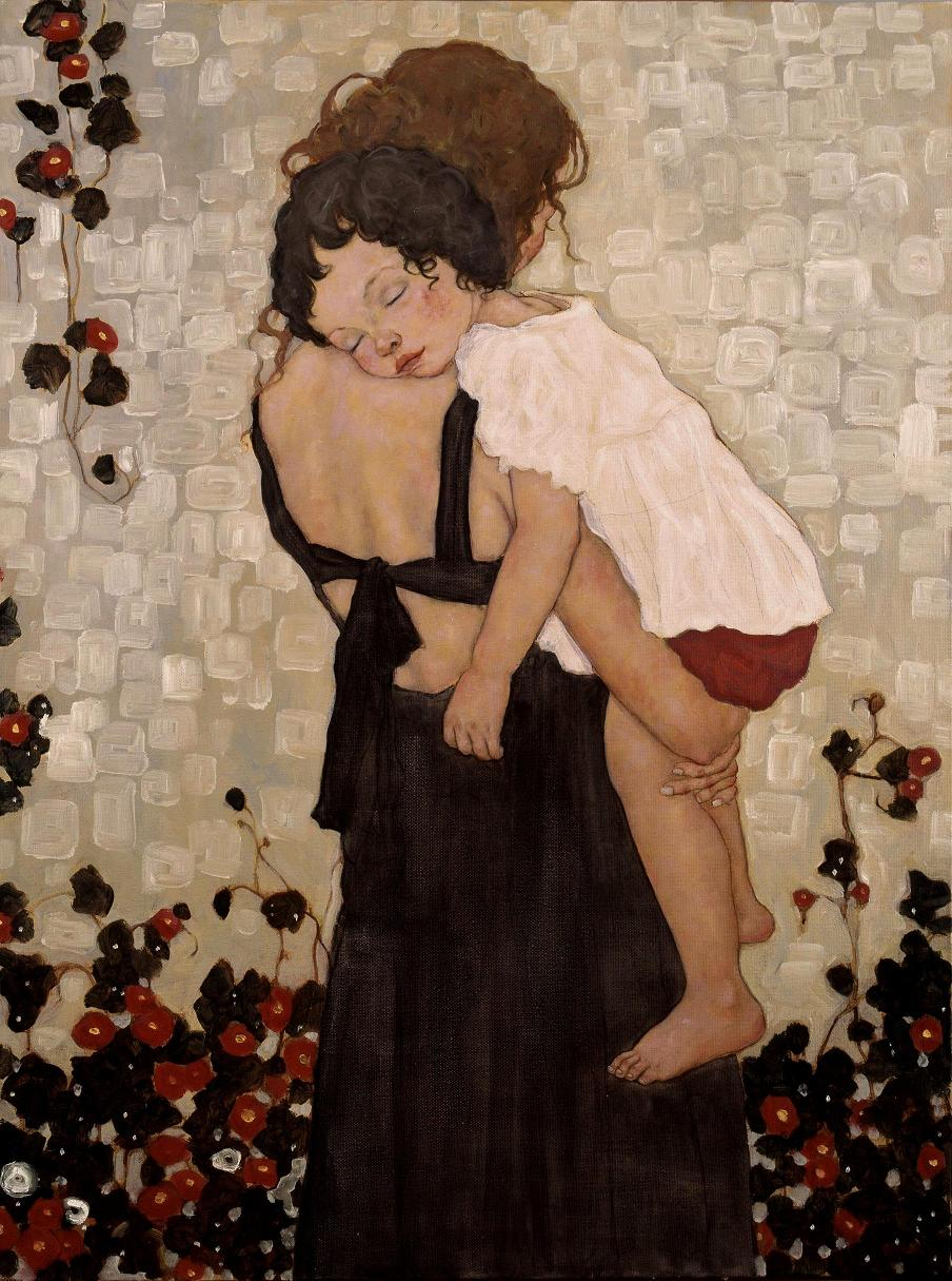 Image result for mother and children art
